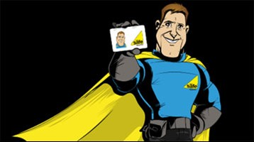 Gas Safe Man with Gas Safe engineer card